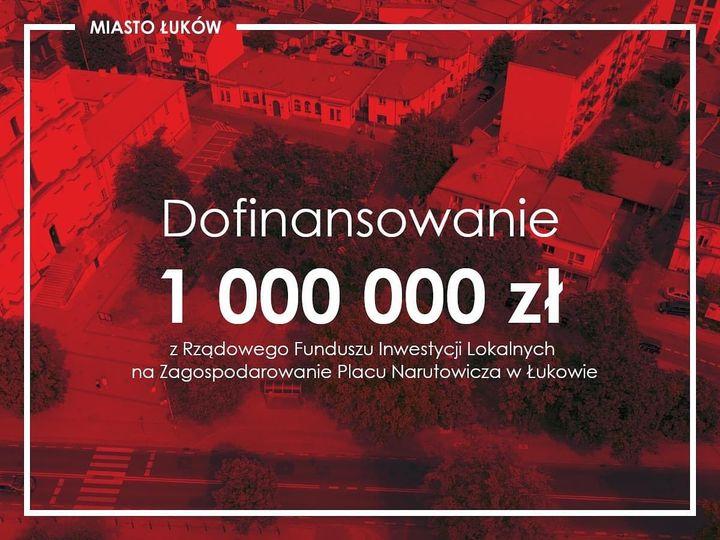 Miasto Łuków otrzymało 1 mln zł dofinansowania z Rzą
